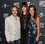 Gen Art Co-Presidents Jeff Abramson and Elizabeth Shaffer with Lake Bell