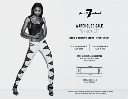 7 For All Mankind Warehouse Sale